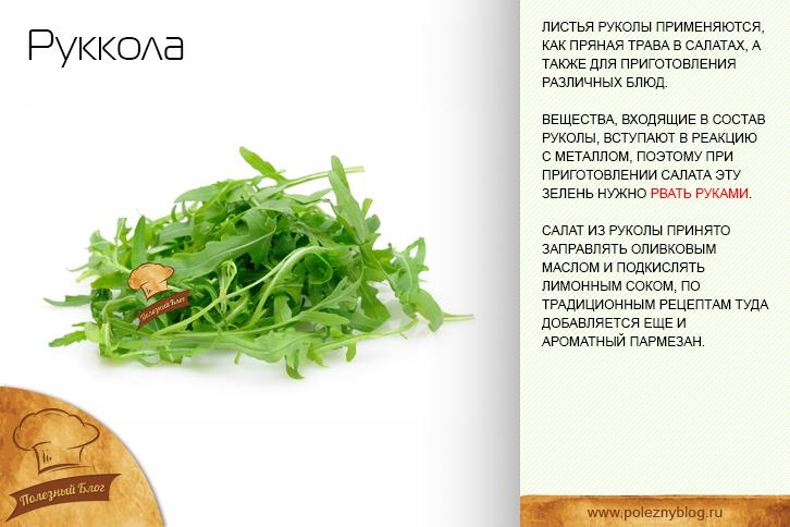 Салат руккола чем полезен