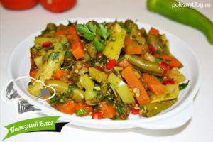 Овощное рагу со стручковой фасолью | Готовое