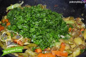 Овощное рагу со стручковой фасолью | Шаг 14