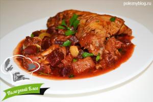 Курица тушёная с кабачками | Готовая