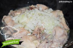 Курица тушёная с кабачками | Шаг 4