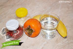 Банановое желе с агар-агар | Ингредиенты