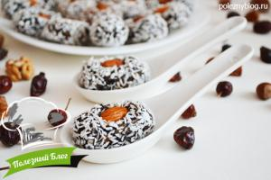 Полезный Блог - Батончики с черносливом в кокосовой стружке - Готовые