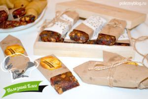 Батончики из сухофруктов и орехов | Готовые