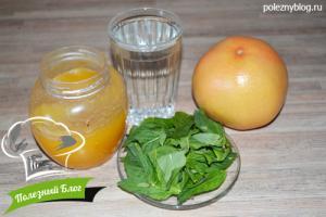 Лимонад из грейпфрута | Ингредиенты