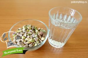 Фисташковое молоко | Ингредиенты