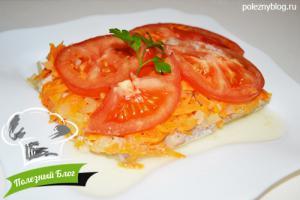 Хек с овощами в духовке | Готовый