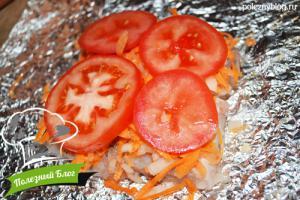 Хек с овощами в духовке | Шаг 8