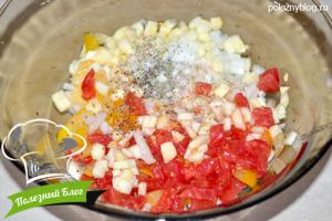 Кабачки, фаршированные помидорами | Шаг 4