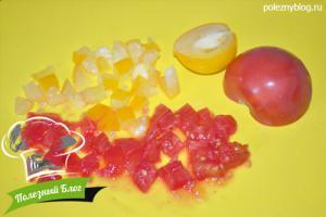 Кабачки, фаршированные помидорами | Шаг 3