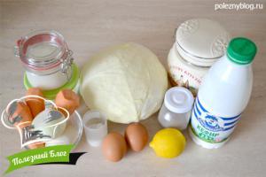 Капустный пирог с капустой | Ингредиенты