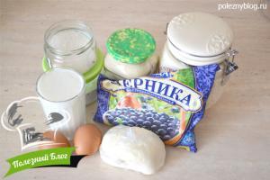 Кекс на кефире с черникой | Ингредиенты