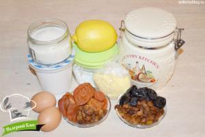 Маффины с сухофруктами | Ингредиенты