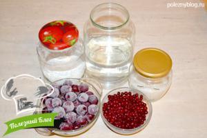 Кисель вишнево-брусничный | Ингредиенты