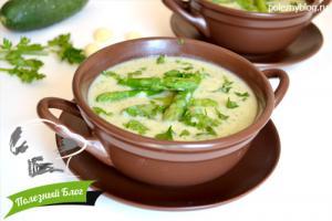 Крем-суп из спаржи, кабачка и риса | Готовый