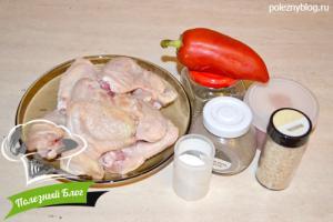Крылышки в красном томатном соусе | Ингредиенты