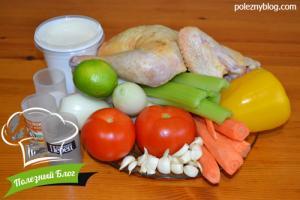 Курица с овощами в пароварке | Ингредиенты
