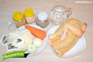 Курица с овощами в горшочке | Ингредиенты