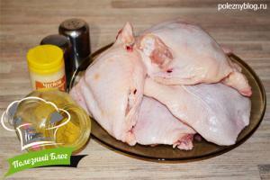 Куриные бёдра в пароварке | Ингредиенты