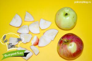 Льняной смузи из черники с яблоками | Шаг 1