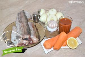 Минтай, тушеный с морковью | Ингредиенты