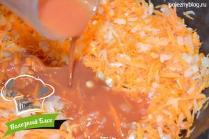 Минтай, тушеный с морковью | Шаг 7