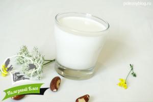 Молоко из бразильского ореха | Готовое