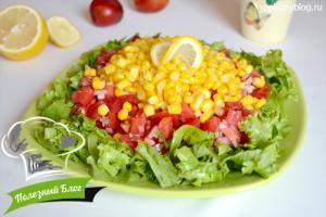 Овощной салат с кукурузой | Готовый