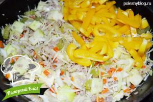 Овощное рагу с фаршем   Шаг 11