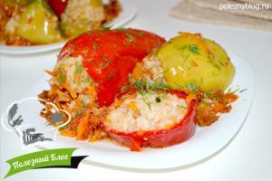 Перец, фаршированный рисом и овощами | Готовый