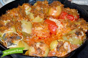 Перец, фаршированный рисом и овощами | Шаг 13