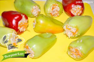 Перец, фаршированный рисом и овощами | Шаг 10