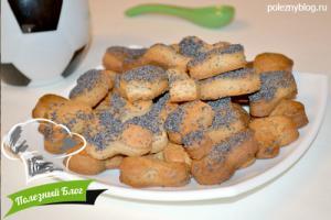 Песочное печенье с маком   Готовое