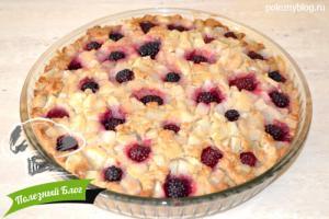 Пирог с грушей и ежевикой | Шаг 8