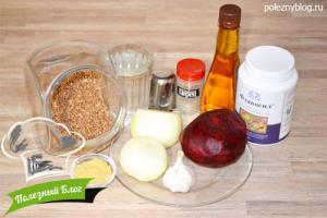 Полезный Блог - Постные котлеты из гречки и свеклы без яиц - Ингредиенты