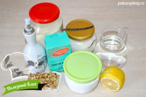 Постный кукурузный кекс | Ингредиенты