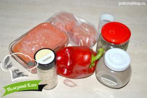 Пряный томатный соус   Ингредиенты