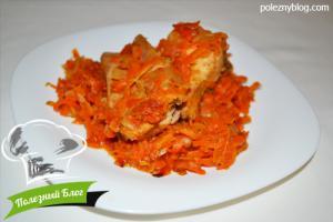Рыба, тушёная с морковью | Готовая