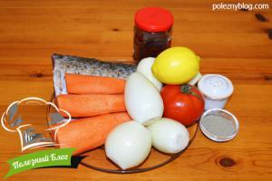 Рыба, тушёная с морковью | Ингредиенты
