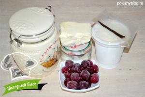Рогалики с вишней | Ингредиенты