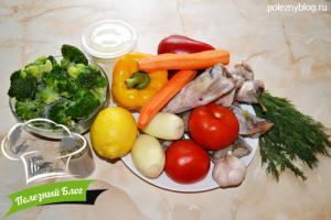 Нототения в духовке | Ингредиенты