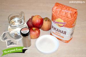 Ржаная галета с яблоками и корицей | Ингредиенты