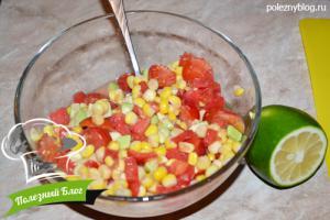 Салат из авокадо и кукурузы без масла | Шаг 6