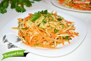 Салат из топинамбура с морковью, Пошаговый рецепт с фото