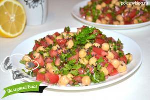 Салат с нутом и помидорами | Готовый
