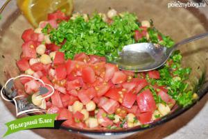 Салат с нутом и помидорами | Шаг 7
