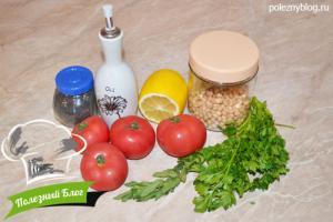 Салат с нутом и помидорами | Ингредиенты