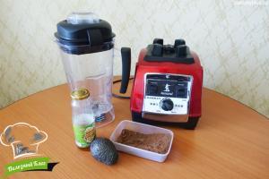 Шоколадный крем из авокадо | Ингредиенты