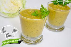 Суп-пюре из кабачков   Готовый