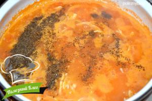 Тыквенный суп с курицей | Шаг 10